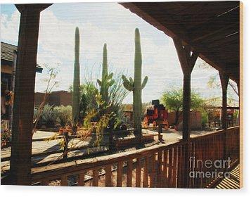 Old Tuscon Movie Studio Theme Park Wood Print by Susanne Van Hulst