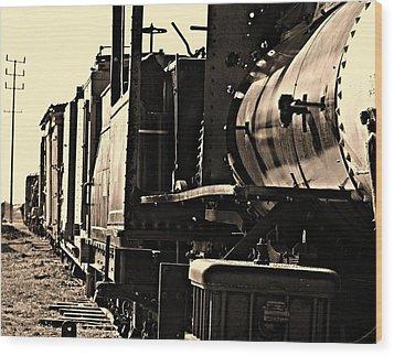 Old Unused Train Wood Print by Elizabeth  Doran