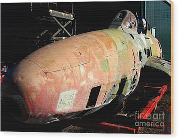 Old Us Fighter Jet Fuselage . 7d11252 Wood Print by Wingsdomain Art and Photography