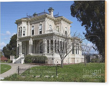 Old Victorian Camron-stanford House . Oakland California . 7d13445 Wood Print by Wingsdomain Art and Photography
