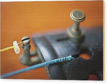 Old Violin Wood Print by Rudy Malmquist
