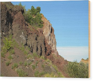 Old Volcano In Romania Wood Print by Manuela Constantin