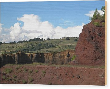 Old Volcano In Transilvania Wood Print by Manuela Constantin