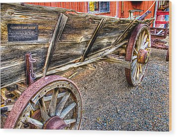 Old Wagon Wood Print by Jon Berghoff