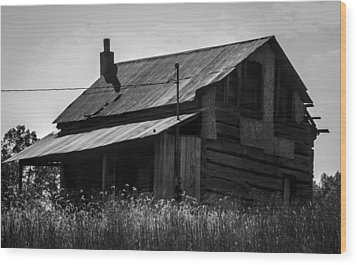 Old West Va Cabin Wood Print by Toma Caul