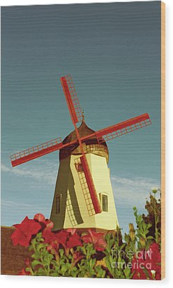 Old Windmill  Wood Print by Paul Topp