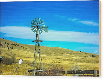 Wood Print featuring the photograph Old Windmill by Shannon Harrington