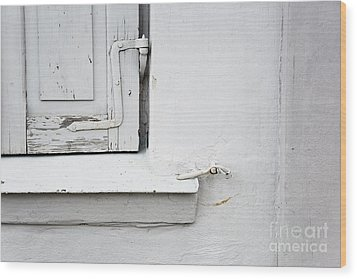 Wood Print featuring the photograph Old Window Shutters Detail by Agnieszka Kubica