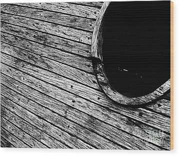 Old Wooden Boat Wood Print by Andy Prendy