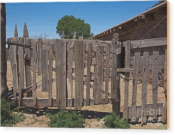 Old Wooden Fence Gate Wood Print by Thom Gourley/Flatbread Images, LLC