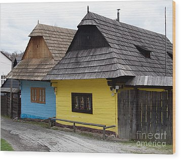 Wood Print featuring the photograph Old Wooden Homes by Les Palenik