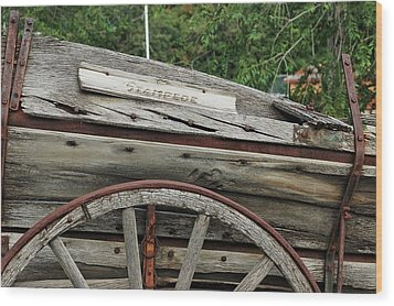 Wood Print featuring the photograph Old Wooden Wagon by Trever Miller