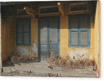 Old Yellow House In Vietnam Wood Print by Tanya Polevaya
