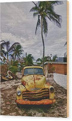 Old Yellow Truck Florida Wood Print by Garry Gay