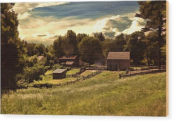 Olden Times Wood Print by Lourry Legarde