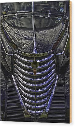 Oldsmobile Reflected Wood Print by Nigel Jones