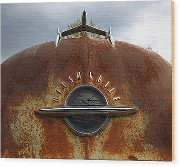 Oldsmobile Wood Print by Steve McKinzie