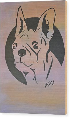 Wood Print featuring the painting Ole Fella by Maria Urso
