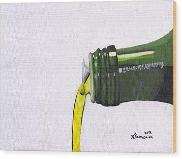 Olive Oil Wood Print by Kayleigh Semeniuk