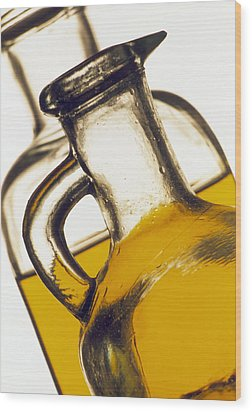 Olive Oil Wood Print by Tony Craddock