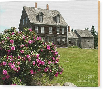 Olson House With Flowers Wood Print by Theresa Willingham