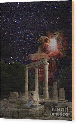 Olympia's Temple Wood Print by Pavlos Vlachos