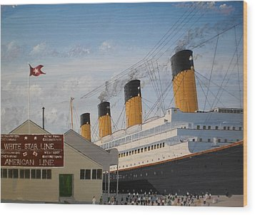 Olympic At Ocean Dock Wood Print by James McGuinness
