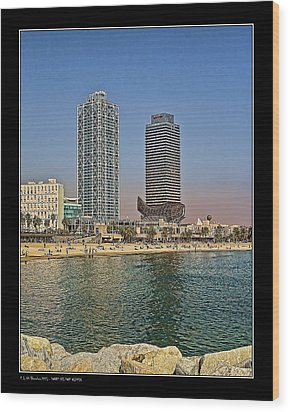Wood Print featuring the photograph Olympic Harbor Towers by Pedro L Gili