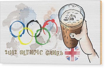 Olympic Rings Wood Print by Mark Armstrong