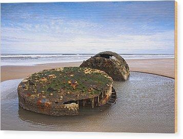 On A Beach Wood Print by Svetlana Sewell