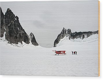 Wood Print featuring the photograph On A Glacier by Gary Rose