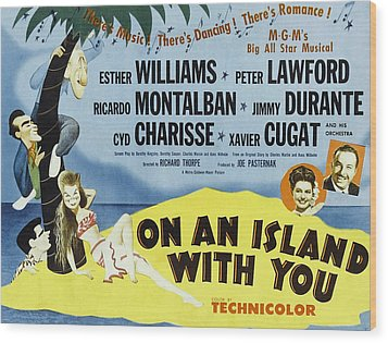 On An Island With You, Peter Lawford Wood Print by Everett