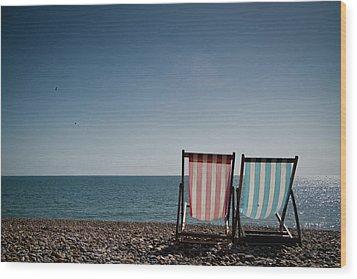 On Brighton Beach Wood Print by SVGiles