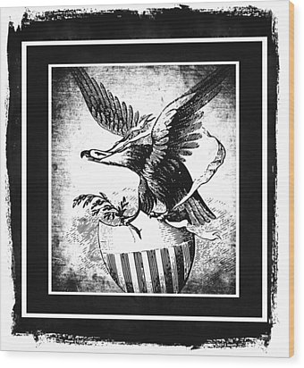 On Eagles Wings Bw Wood Print by Angelina Vick