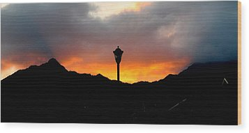 On Fire  Wood Print