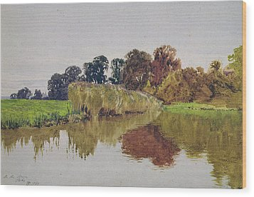 On The Arun Stoke Sussex  Wood Print by George Vicat Cole