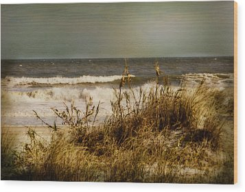 Wood Print featuring the photograph On The Beach by Mary Timman