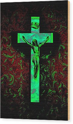 Wood Print featuring the photograph On The Cross by David Pantuso