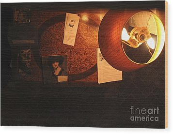 Wood Print featuring the photograph On The Desk by Sherry Davis
