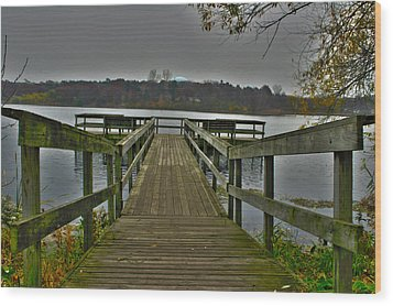 Wood Print featuring the photograph On The Dock by David Wohlfeil