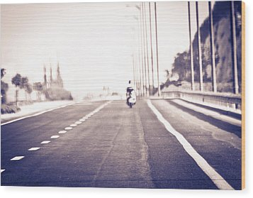 On The Road Wood Print by Amr Miqdadi