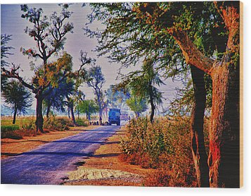 Wood Print featuring the photograph On The Road To Jaipur by Rick Bragan