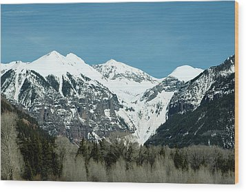 On The Road To Telluride Wood Print
