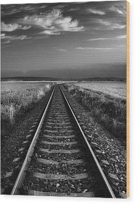 On The Track II. Wood Print by Jaromir Hron