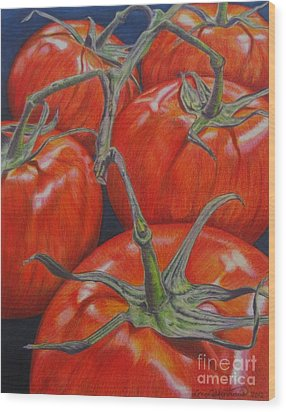 On The Vine Wood Print by Lori Lutkenhaus