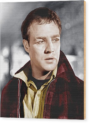 On The Waterfront, Marlon Brando, 1954 Wood Print by Everett