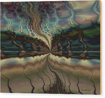 Wood Print featuring the digital art On The Way To Somewhere by Kim Redd
