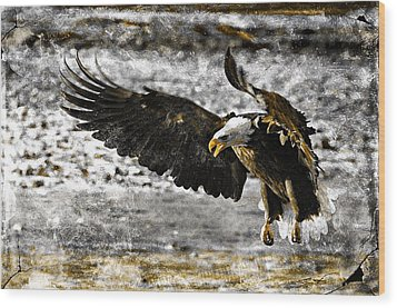 Wood Print featuring the digital art On The Wings Of Love by Carrie OBrien Sibley