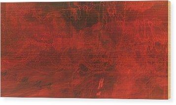 One Color Wood Print by Amr Miqdadi