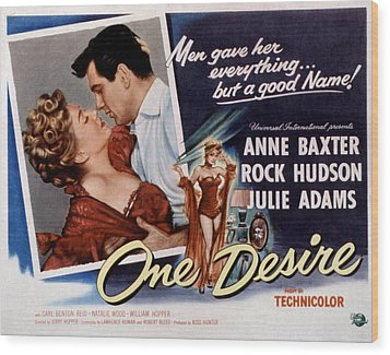 One Desire, Anne Baxter, Rock Hudson Wood Print by Everett
